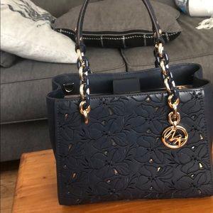 Michael Kors like new used twice navy blue purse